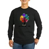 Autistic puzzle ribbon Long Sleeve T-shirts (Dark)