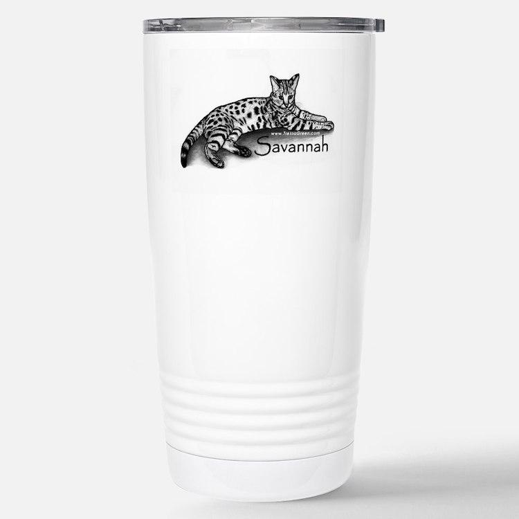 Cute Savannah cat Travel Mug