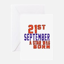 21 September A Star Was Born Greeting Card