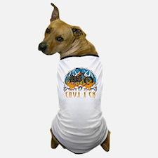 Chopper Tribal Skulls Dog T-Shirt