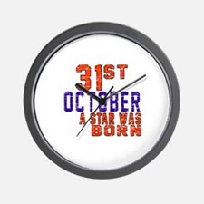31 October A Star Was Born Wall Clock