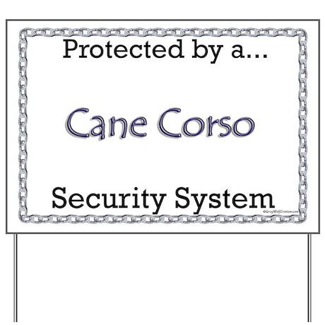 Corso Security Yard Sign