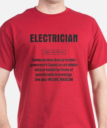 Funny Electrician Definition T-Shirt