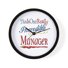 Incredible Manager Wall Clock