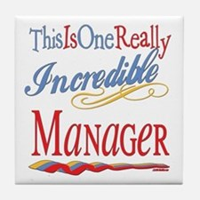 Incredible Manager Tile Coaster