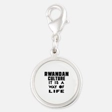 Rwandan Culture It Is A Way Of Silver Round Charm