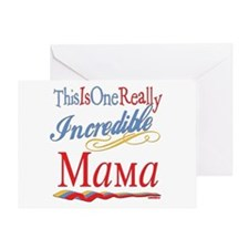 Incredible Mama Greeting Card