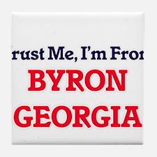 Trust Me, I'm from Byron Georgia Tile Coaster