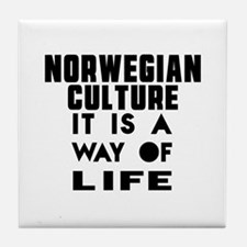 Norwegian Culture It Is A Way Of Life Tile Coaster