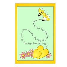 Bee Wedding Postcards (Package of 8)