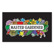 Master Gardener Rectangle Decal