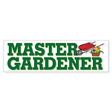 Master Gardener Bumper Car Sticker