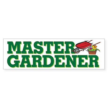 Master Gardener Bumper Sticker