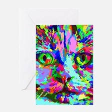 Pop Art Kitten Greeting Cards