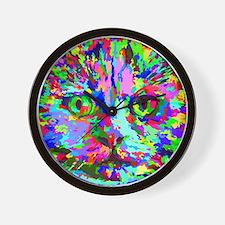 Pop Art Kitten Wall Clock