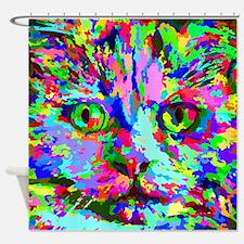 Pop Art Kitten Shower Curtain