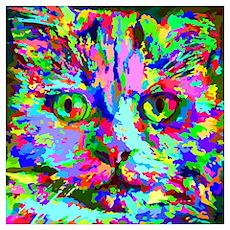 Pop Art Kitten Wall Art Poster