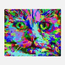 Pop Art Kitten Throw Blanket