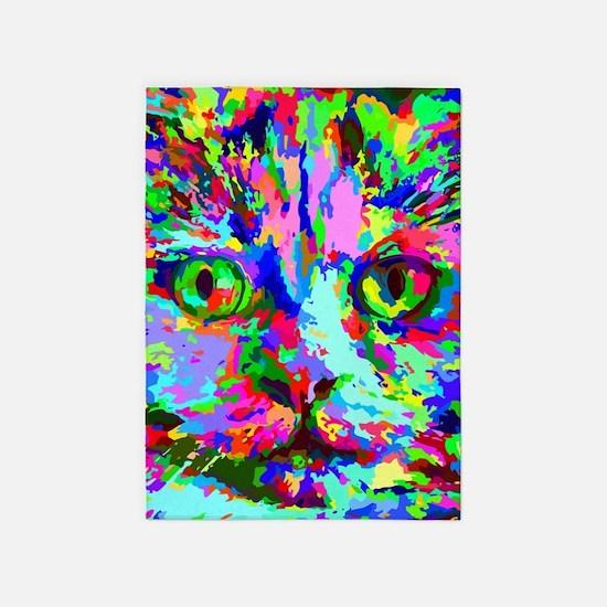 Pop Art Kitten 5'x7'Area Rug