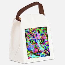 Pop Art Kitten Canvas Lunch Bag