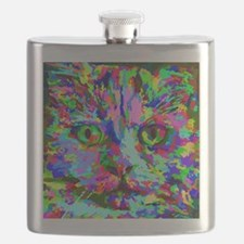 Pop Art Kitten Flask
