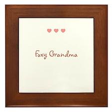 Foxy Grandma Framed Tile