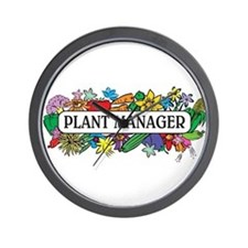 Plant Manager Wall Clock