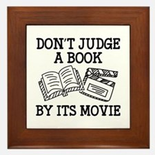 Don't Judge A Book By Its Movie Framed Tile