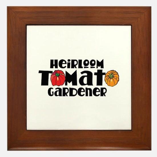 Heirloom Tomato Framed Tile