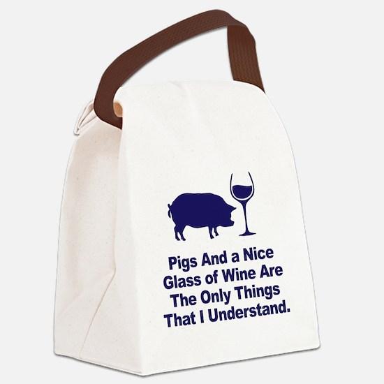 Cute Pig Canvas Lunch Bag