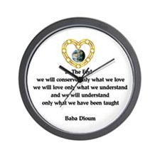 Baba Dioum's Quote Wall Clock