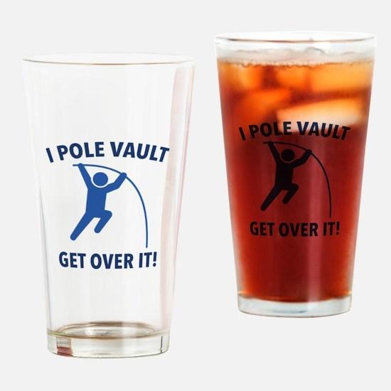 I Pole Vault Drinking Glass
