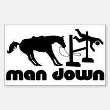 man down hunter Rectangle Decal