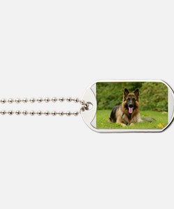 Cute German shepherds Dog Tags
