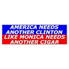 American Needs Clinton Bumper Car Sticker