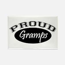 Proud Gramps (black) Rectangle Magnet