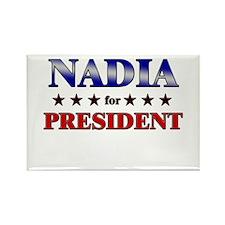 NADIA for president Rectangle Magnet