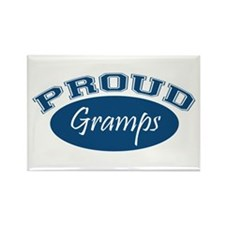 Proud Gramps (blue) Rectangle Magnet