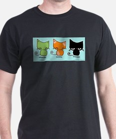Saturday Sunday Monday Cats T-Shirt