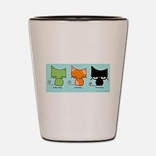 Saturday Sunday Monday Cats Shot Glass