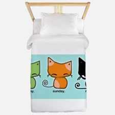 Saturday Sunday Monday Cats Twin Duvet
