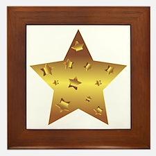 Unique Gold star award Framed Tile