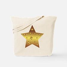 Unique Gold star Tote Bag