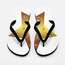 Golden Star Flip Flops