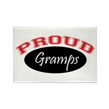 Proud Gramps (red and black) Rectangle Magnet
