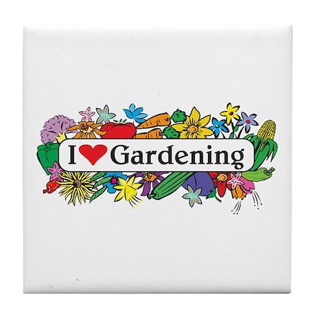 I Heart Gardening Tile Coaster