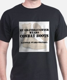 National Guard Grandpa Granddaughter wears DCB T-S