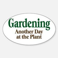 Gardening Oval Decal