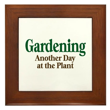 Gardening Framed Tile