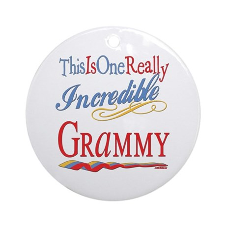 Incredible Grammy Ornament (Round)